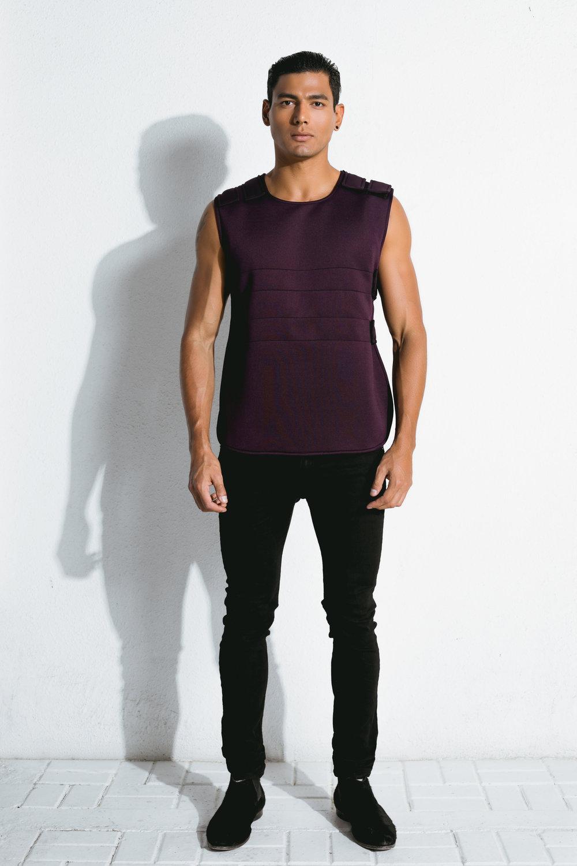 burgundy neoprene bulletproof vest
