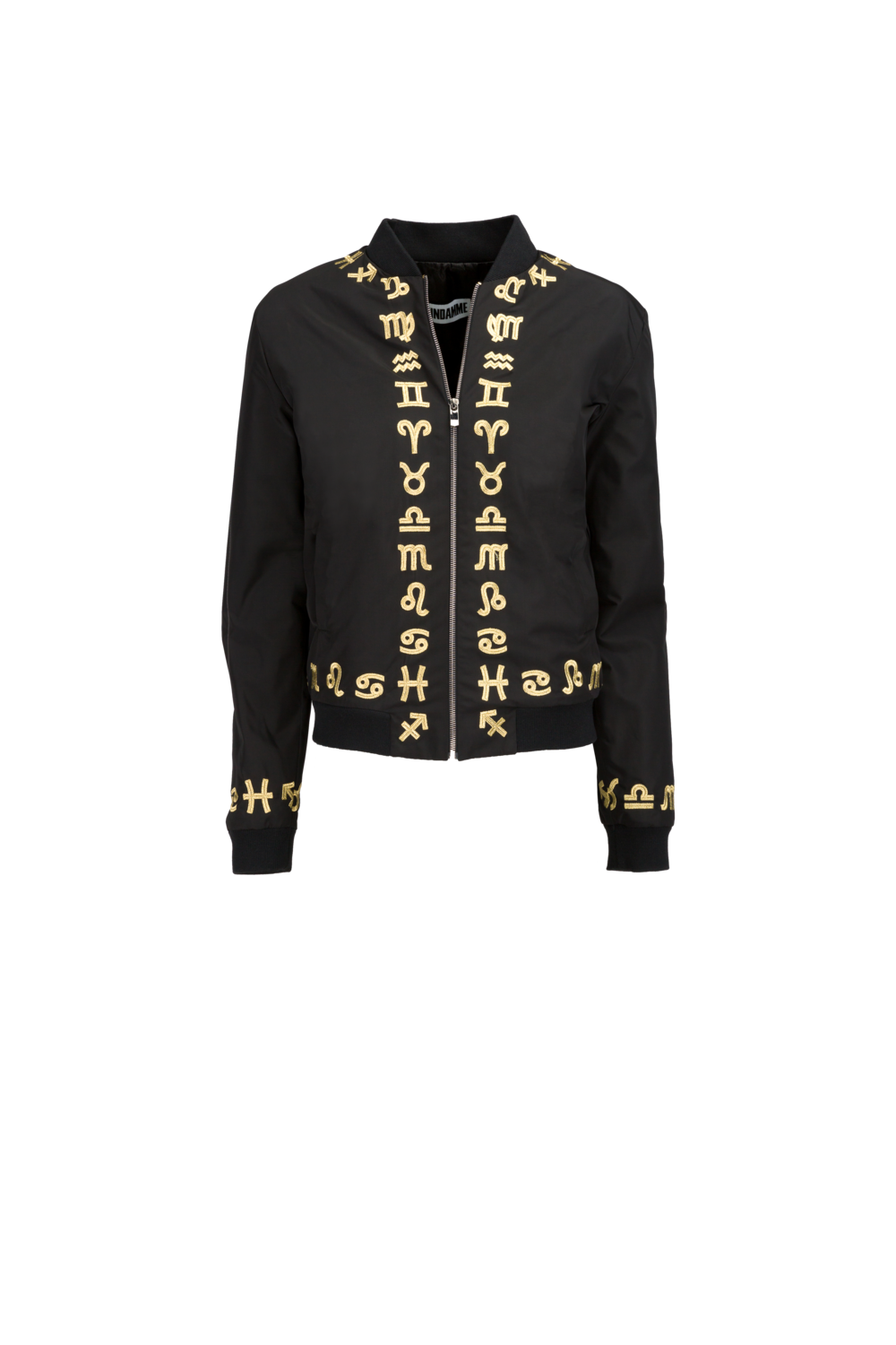 Nylon Zodiac Gold Embroidered Bomber (UNISEX)