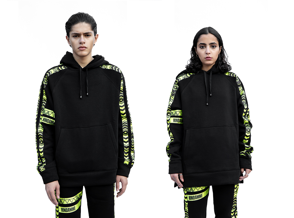 Neon Al Qatt Cotton Hoodie (UNISEX)