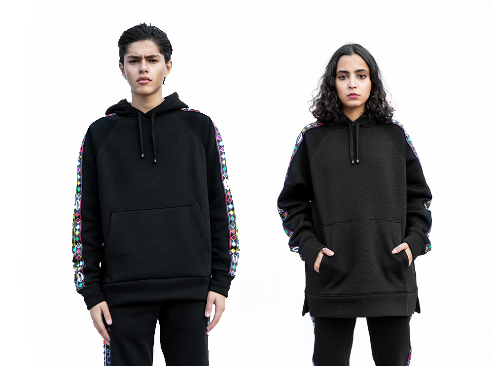 Multi Color Al Qatt Cotton Hoodie (UNISEX)