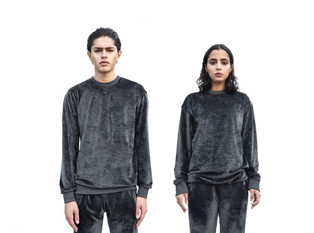 Dark Grey Velvet Sweatshirt (UNISEX)