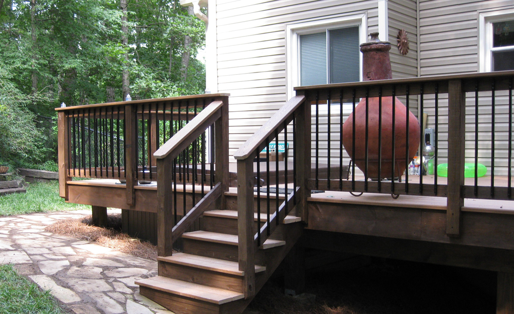 Trex Deck with Inset Hot Tub