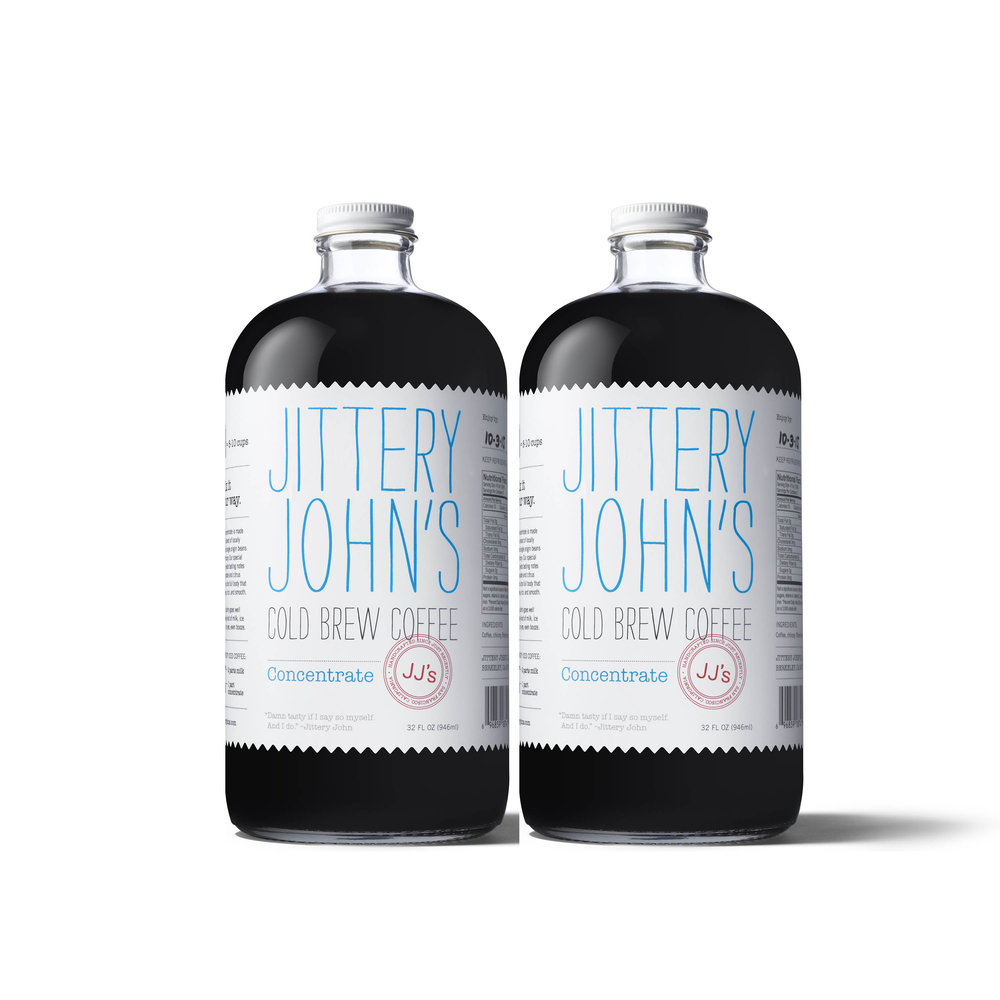 32oz bottle of Jittery John's New Orlean's Style Concentrate