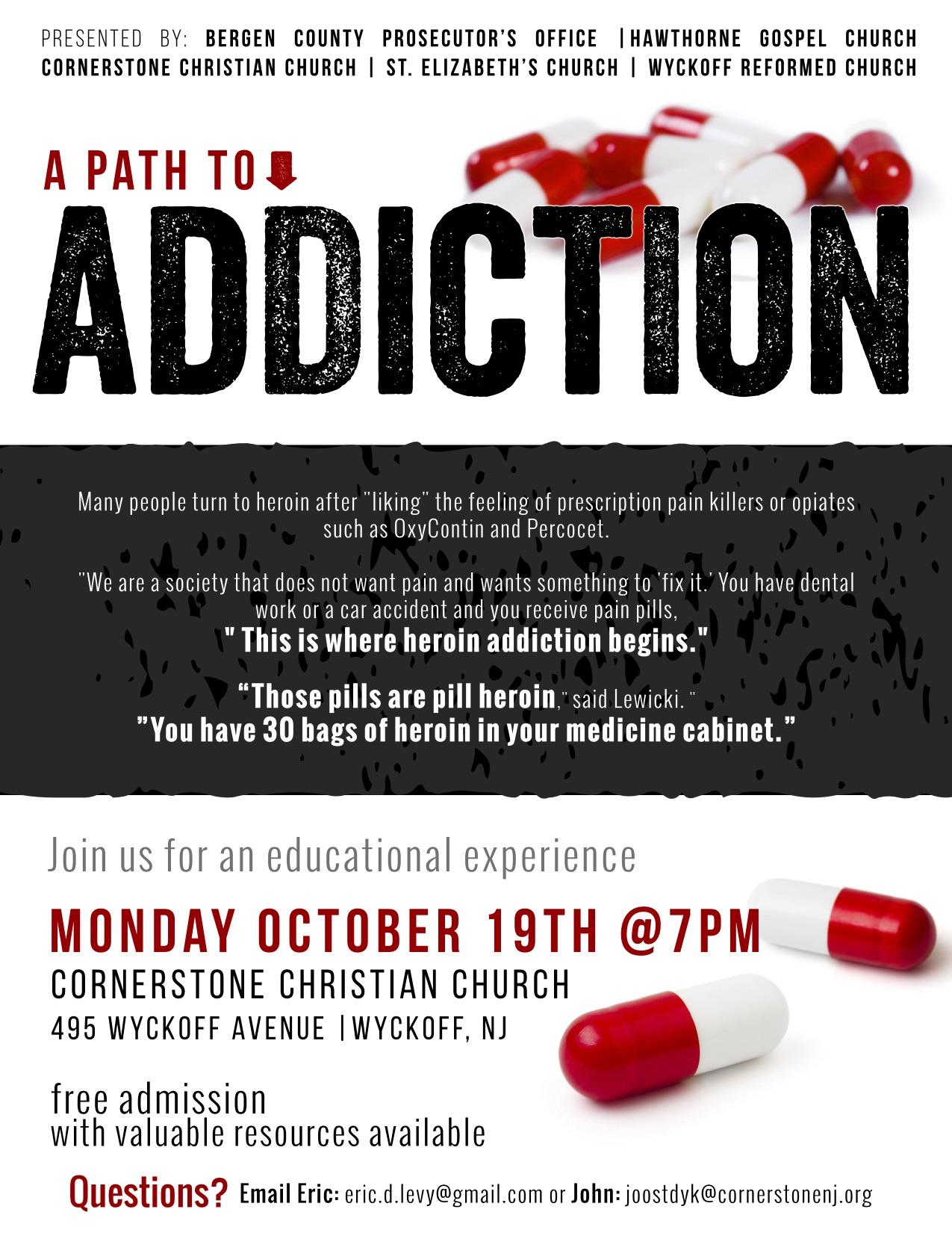 A Path to Addiction — Wyckoff Reformed Church