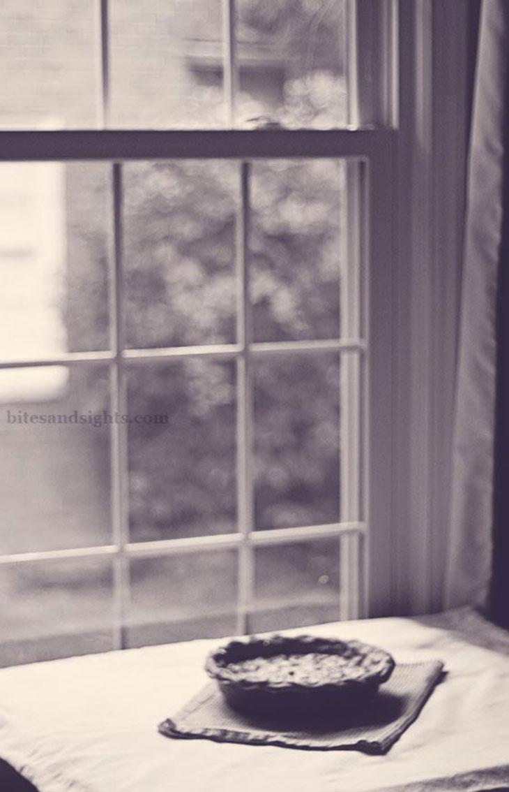 bourbon tarheel pie in the window