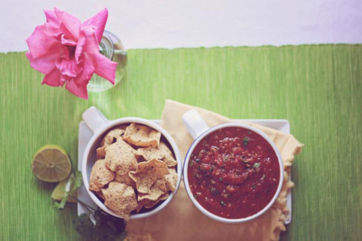 josh's salsa and chips yum yum