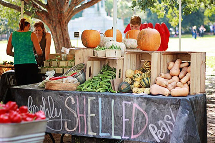 Charleston Farmer's Market on Marion Square - Stand of Produce