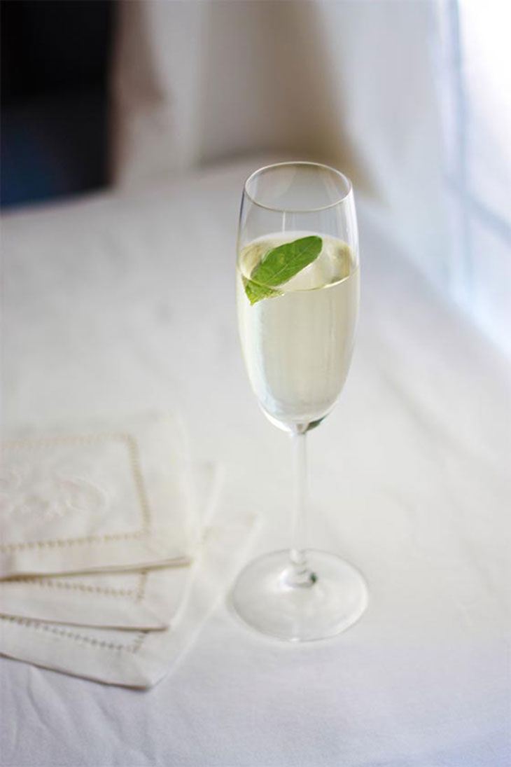 the basil vodka fizz