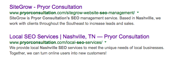 Pryor Consultation SEO Meta Descriptions