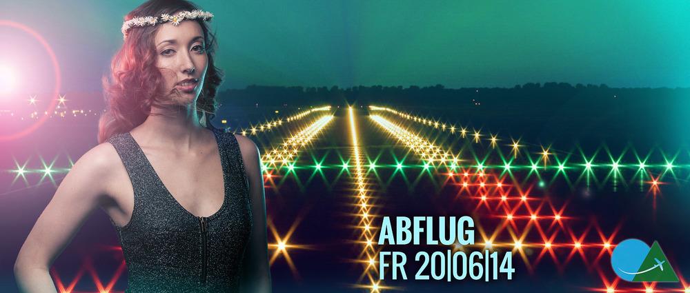 Banner fürs Abflug-Festival 2014