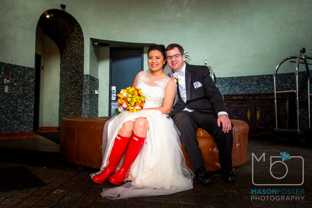 They say that rain on your wedding day is good luck. Cute rain boots on your wedding day are an added bonus.