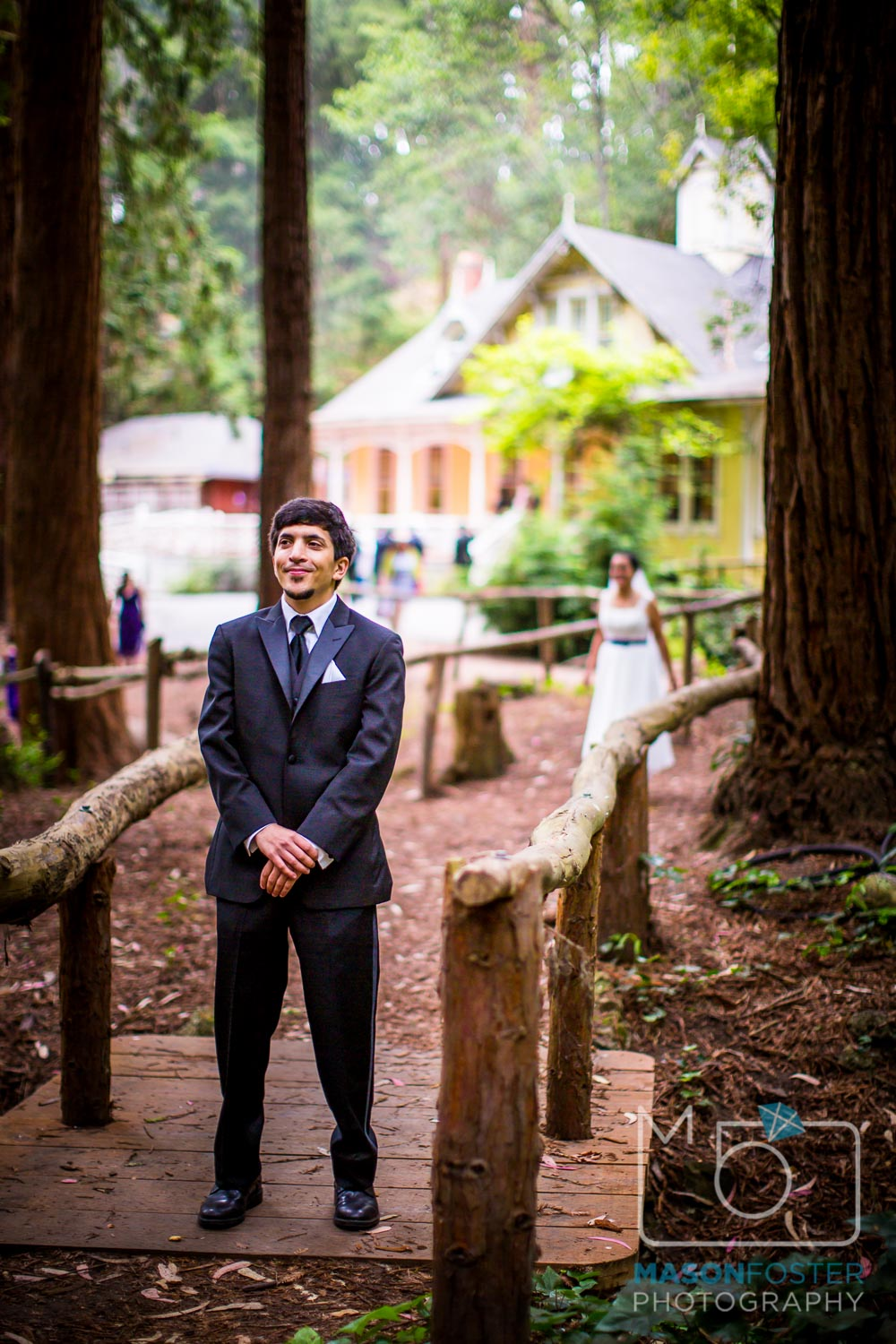 first look in stern grove | san francisco wedding photography