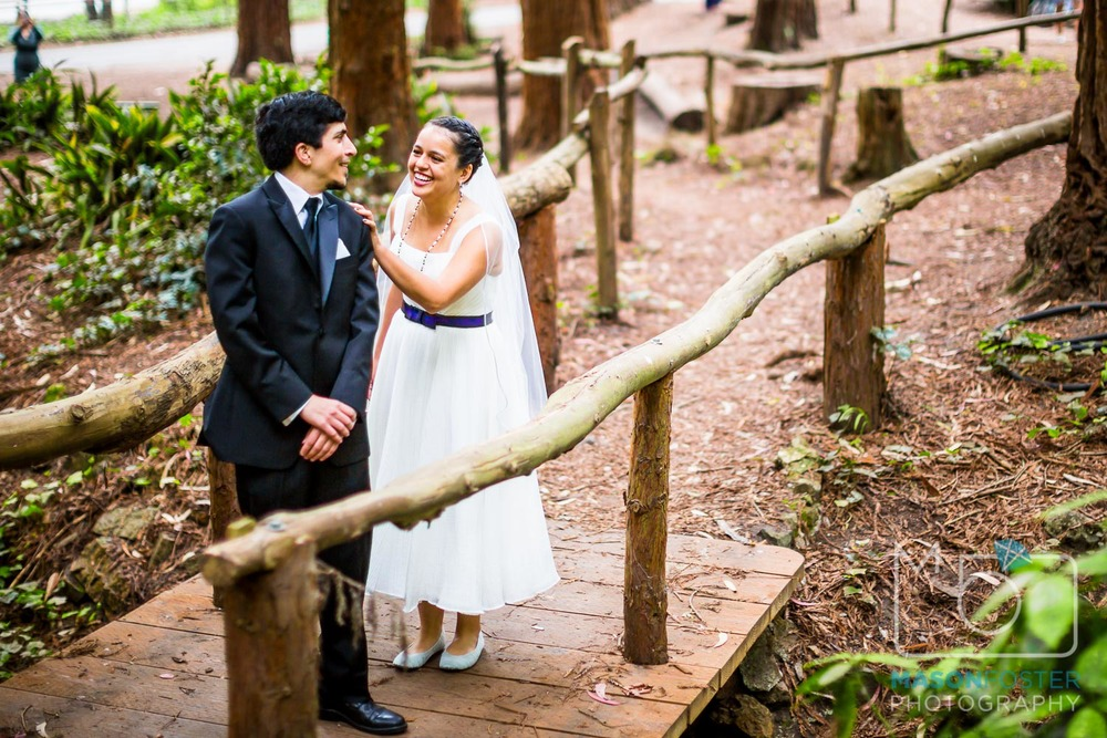first look in Stern Grove| san francisco wedding photography