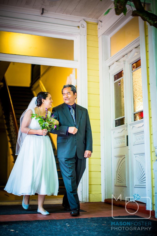 father walking bride| san francisco wedding photography