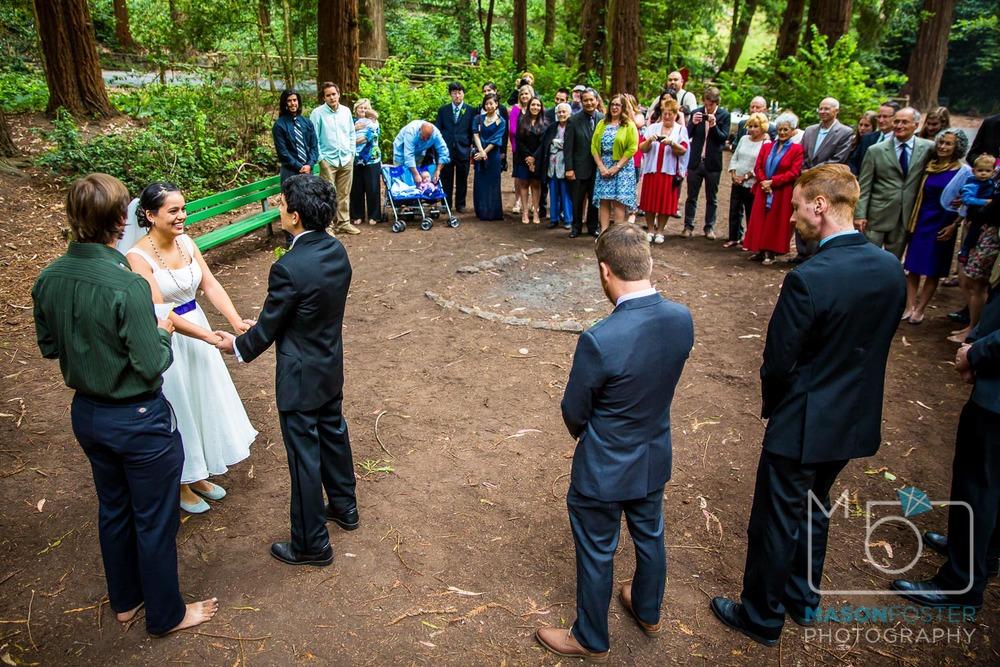 stern grove ceremony| san francisco wedding photography