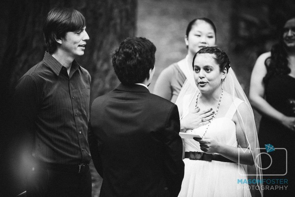 bride reading vows| san francisco wedding photography