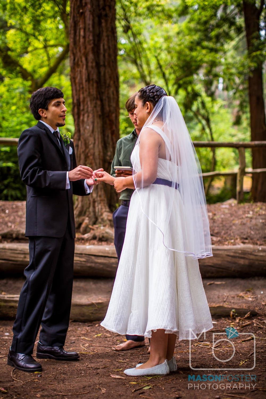 groom putting ring on bride| san francisco wedding photography