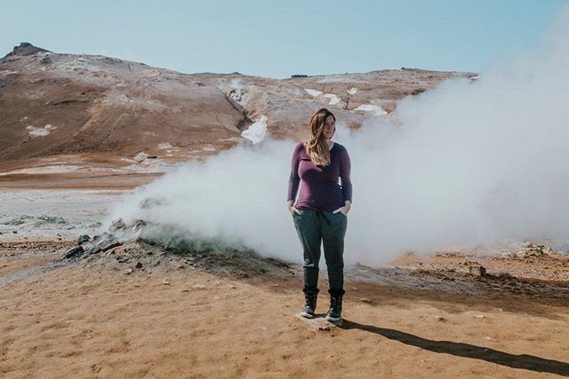 The warmest spot in our trip, smelling of sulfur and odd colors on the ground. Felt like a place you could film an alien movie.