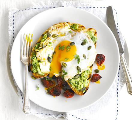 Avocado and eggs on toast are a great way to increase your vitamin B6 and C intake, as eggs are high in B6 and avocados in C. Photo credit: Cassie Best