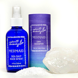 Captain Blackenship Mermaid Sea Salt Spray & Mermaid Dry Shampoo