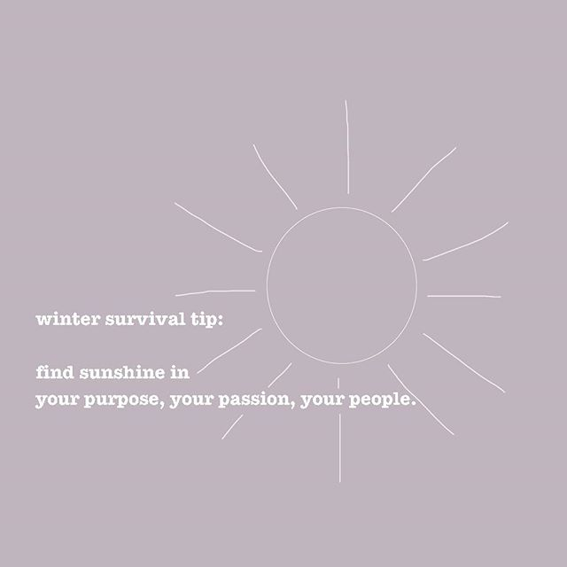 ❄️ Winter survival tip: find sunshine in your purpose, your passion, your people. ☀️ #TheTruthBeautyCompany
