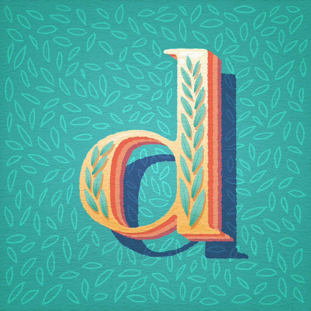 Letter for the live TypeFight at Creative South 2014.