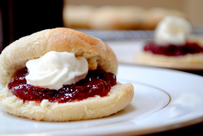 perfect scones with strawberry jam and cream — The Littlest Things