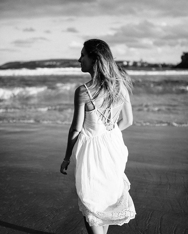 Sand under her feet, wind in her hair, salt on her skin 🌊🌟💙