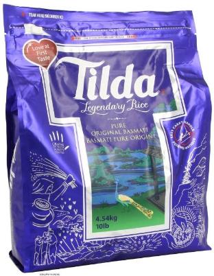Tilda Basmati Rice, $25