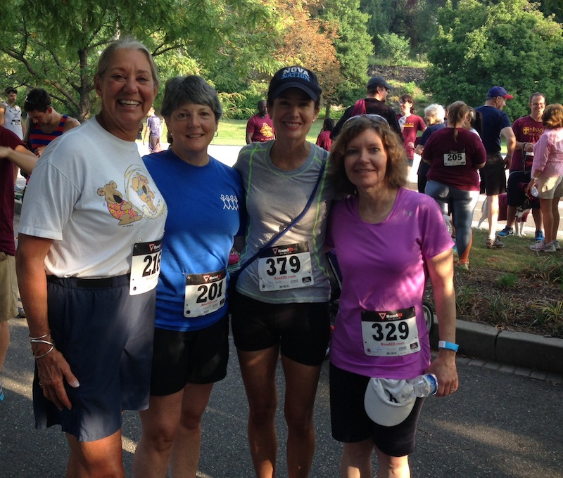 Lacing up their sneakers for St. James School's 5K were ECHOES' board members Mel Bonder, Betsy Aikens, Caroline O'Halloran and Lois Redmond.