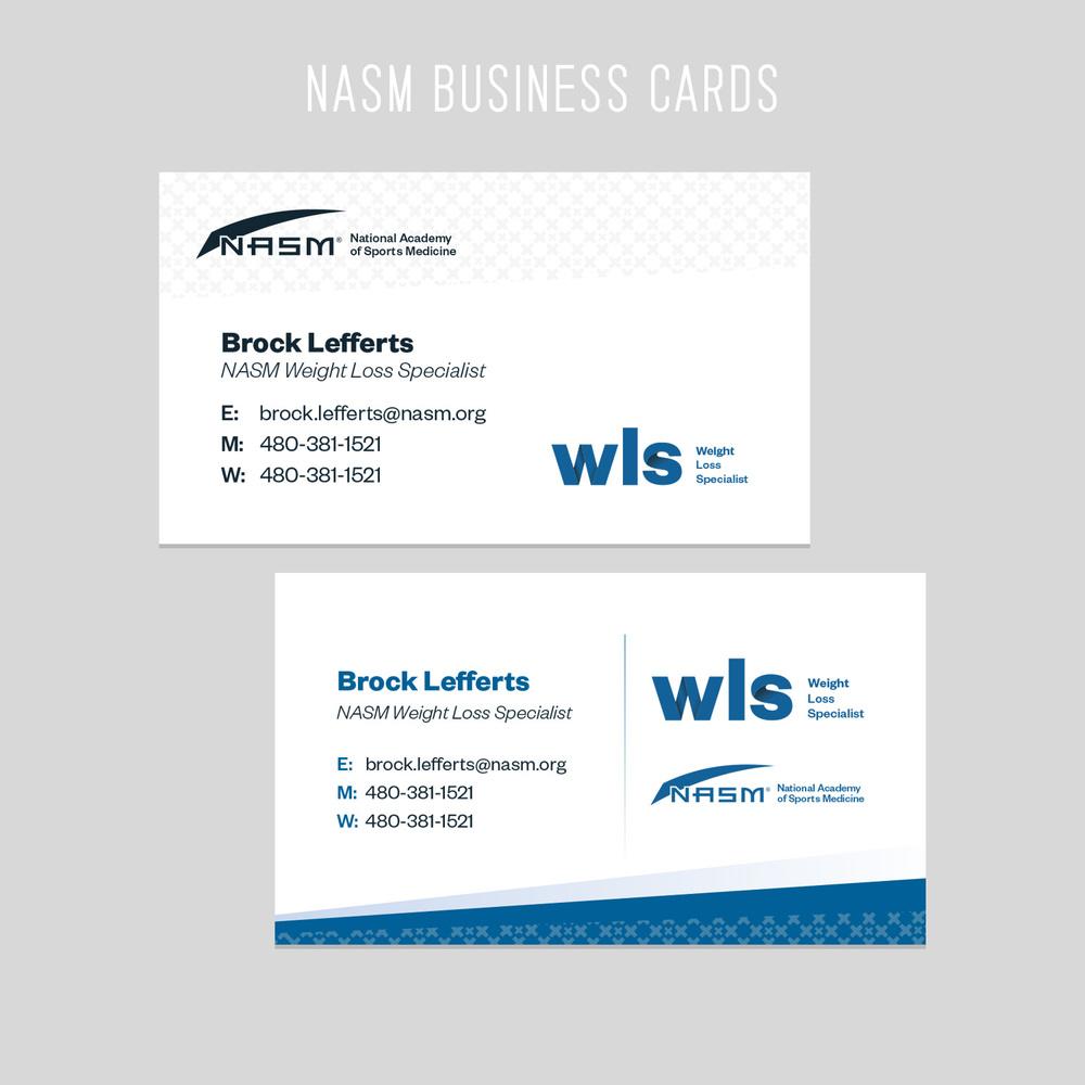 NASM Business Cards
