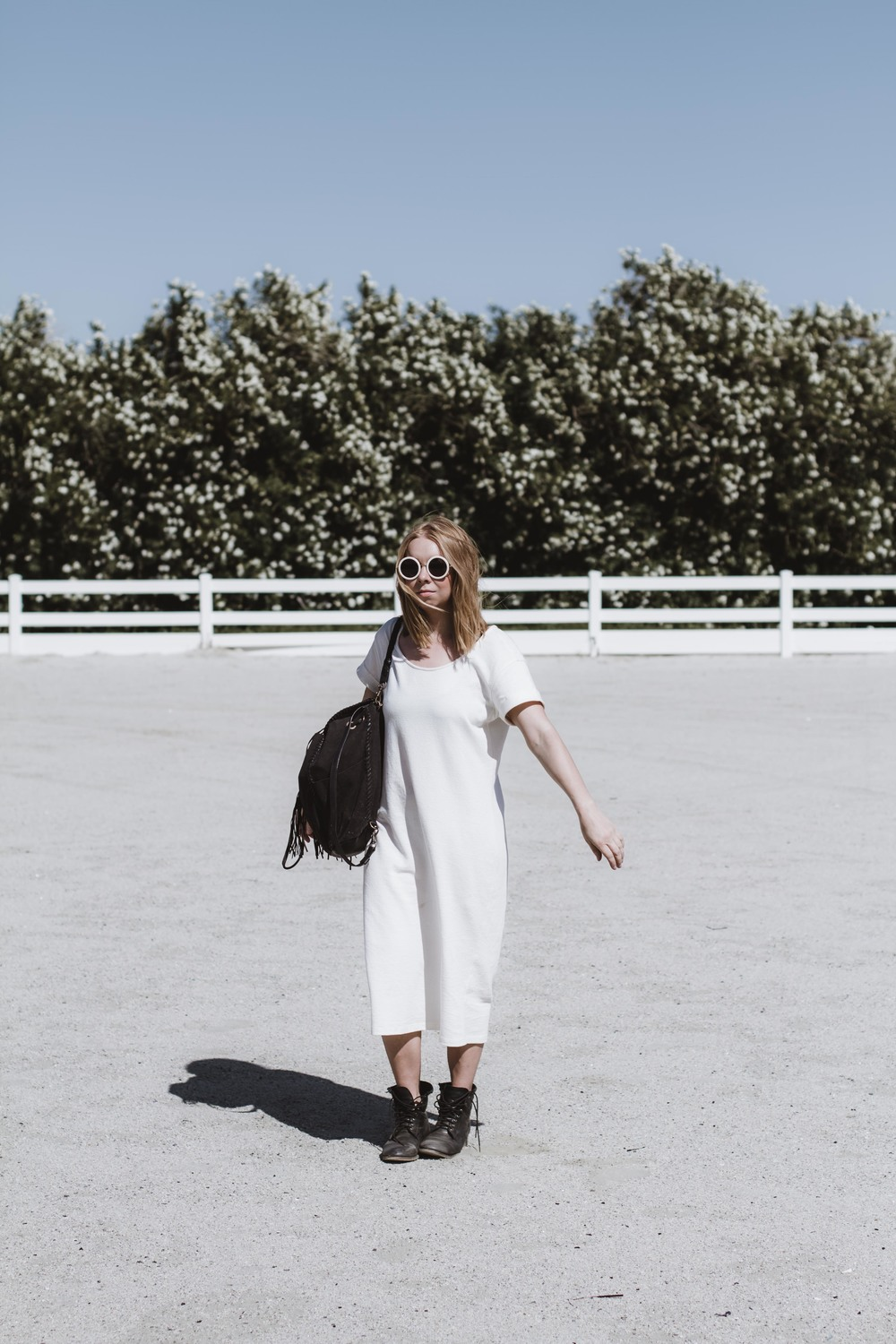 Managed to stay cool in the perfect T-Shirt  dress by Ali Golden.