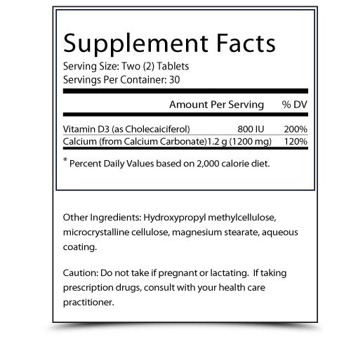 Chrono Calcium Supplement Facts