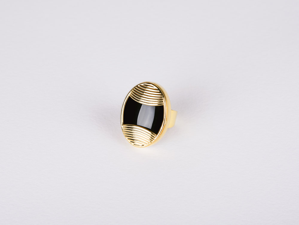 Oval Black Onyx Ring       $204