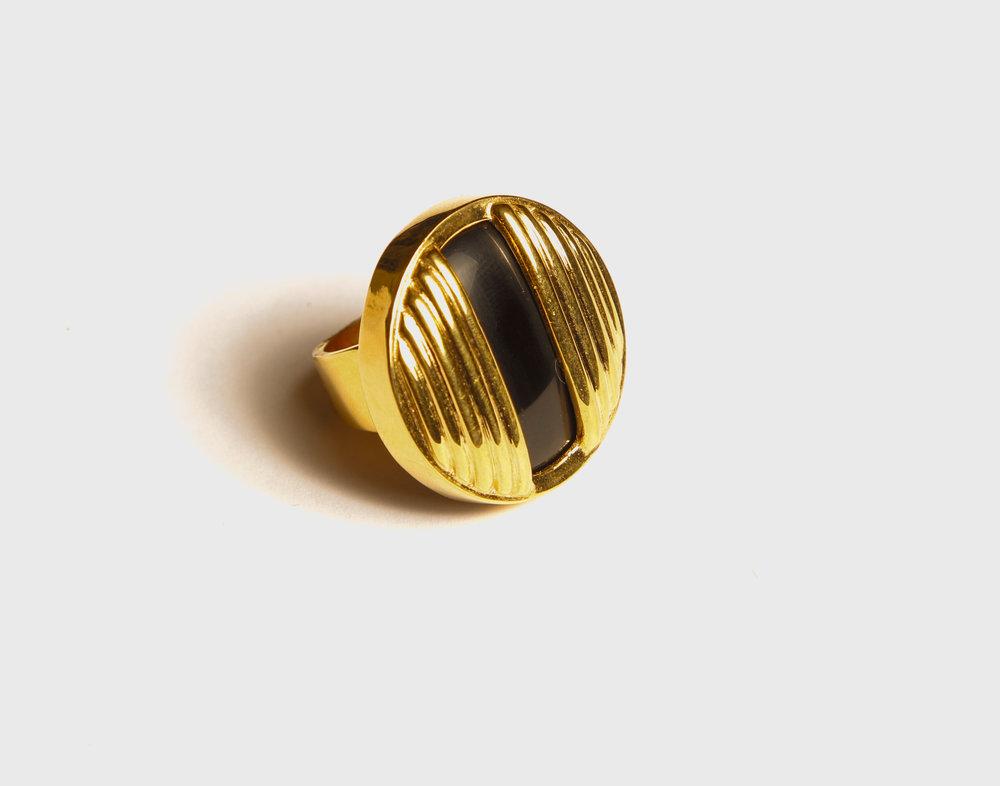 Circle Black Onyx Ring    $205