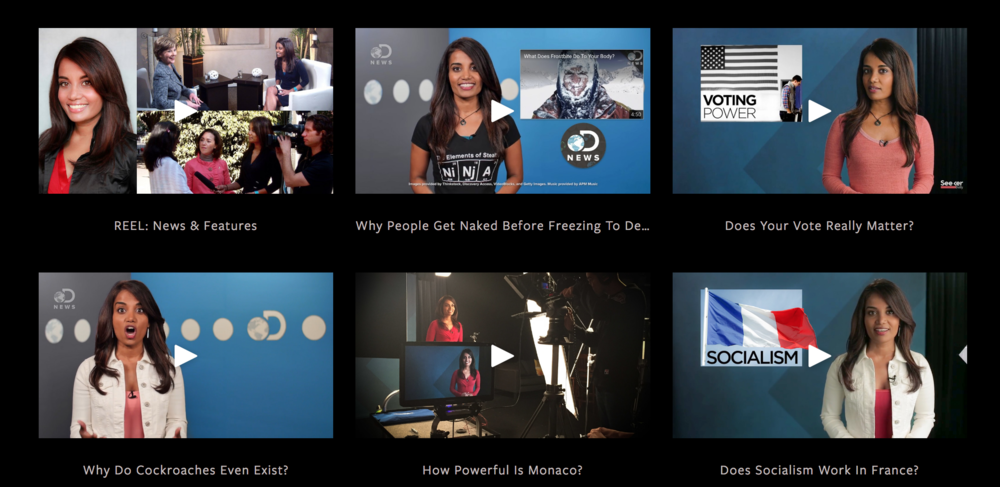 On Camera - Hosting episodes, Moderating panels, Events