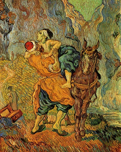 The Good Samaritan, after Delacroix, by Vincent van Gogh