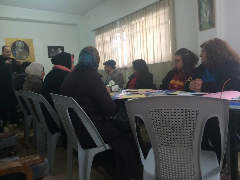 DSPR Training at a Catholic Chruch in Ashrafieh, Amman.