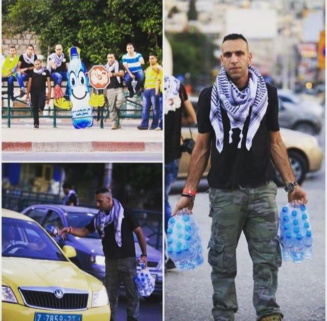 Christian Palestinians distribute water to Muslim Palestinians who will not make it home in time to break their fast because they are detained at Israeli checkpoints. This is what love looks like.