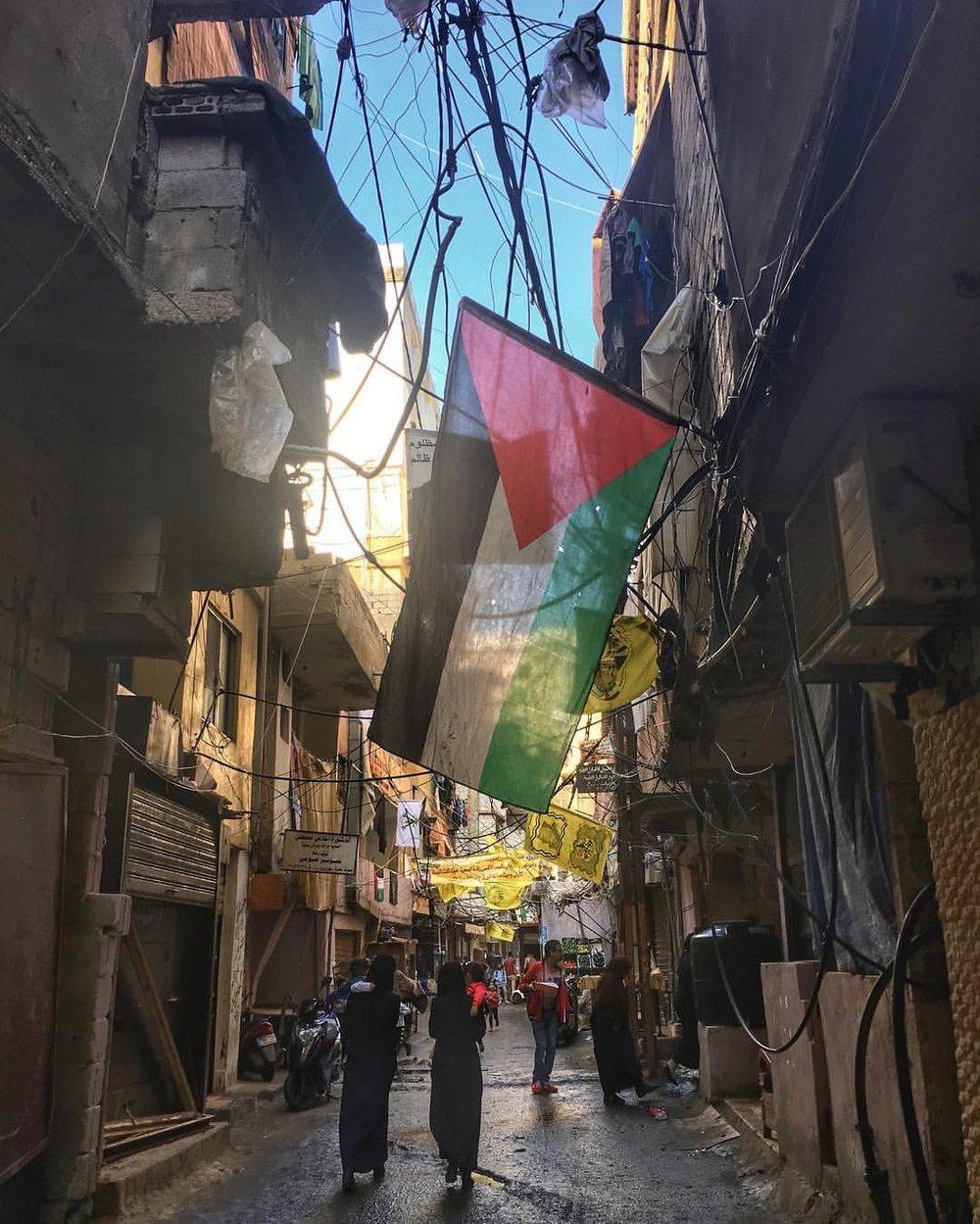 Shatila Palestinian Refugee Camp in Beirut, Lebanon
