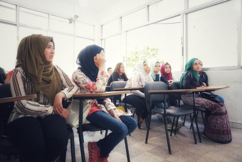 Palestinian and Syrian refugee students at JCC's Saida Center. The Future. Saida, Lebanon, May, 2017. Photo Credit: Alex Gazley
