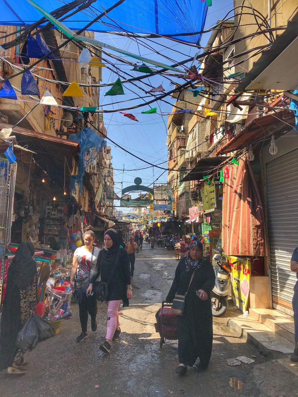 Chatila Palestinian Refugee Camp, Beirut, Lebanon. May 23, 2018.