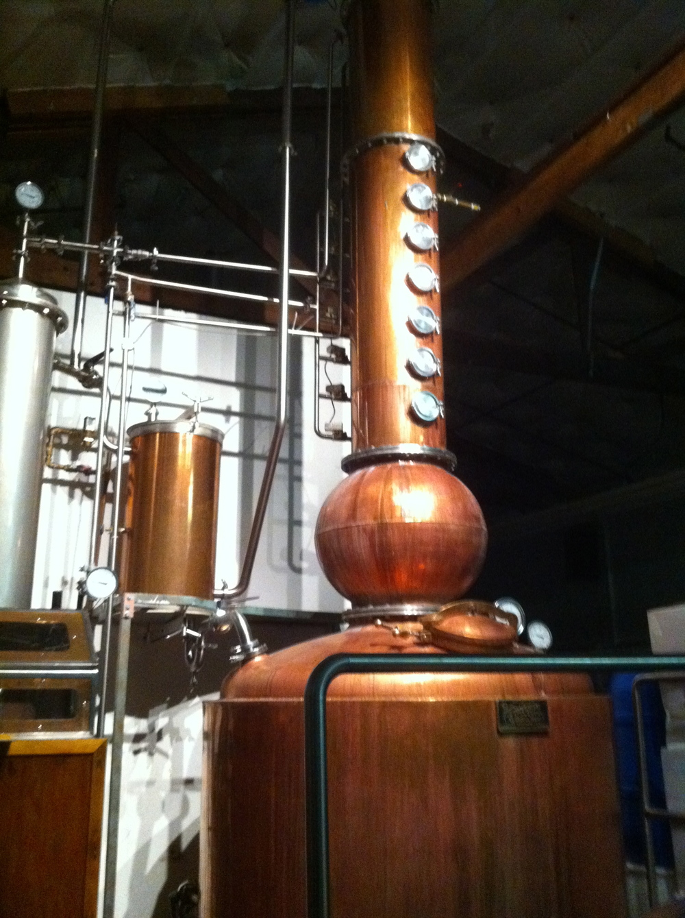 500 gallon Vendome Copper Column Pot Still