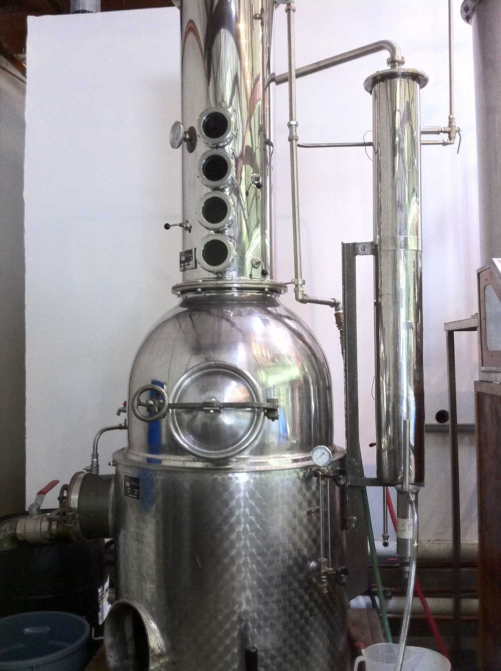 40 gallon Jacob Carl Stainless Steel/Copper bottom Column Pot Still