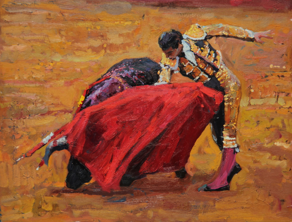 "Timur Akhriev  Title: In the Moment  11"" x 14"" Oil on Board. 2012.  Unframed. Sold."