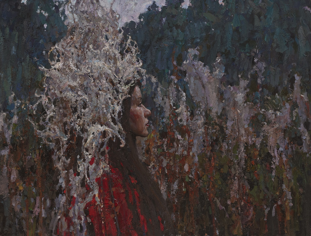 "Timur Akhriev  Title: Wanderer   25,5"" x 33,25""  Oil on Linen. Price. $6100  2013.   Framed"