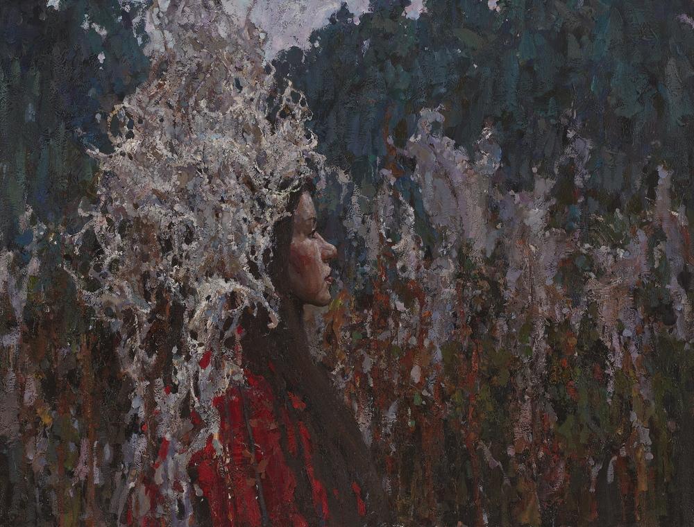 """Wanderer  25,5"""" x 33,25"""" Oil on Linen. Price. $4500,  2013. Framed"""