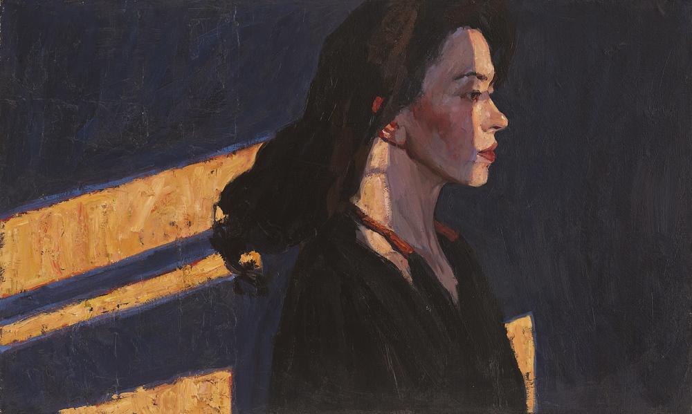 """Empty Studio  18"""" x 30"""", Oil on Linen, Price. $3700,   2014, Framed"""