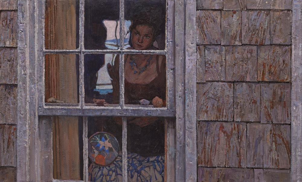 """Title: Elizabeth  30"""" x 50"""", Oil on Linen, 2014. Unframed $10500"""