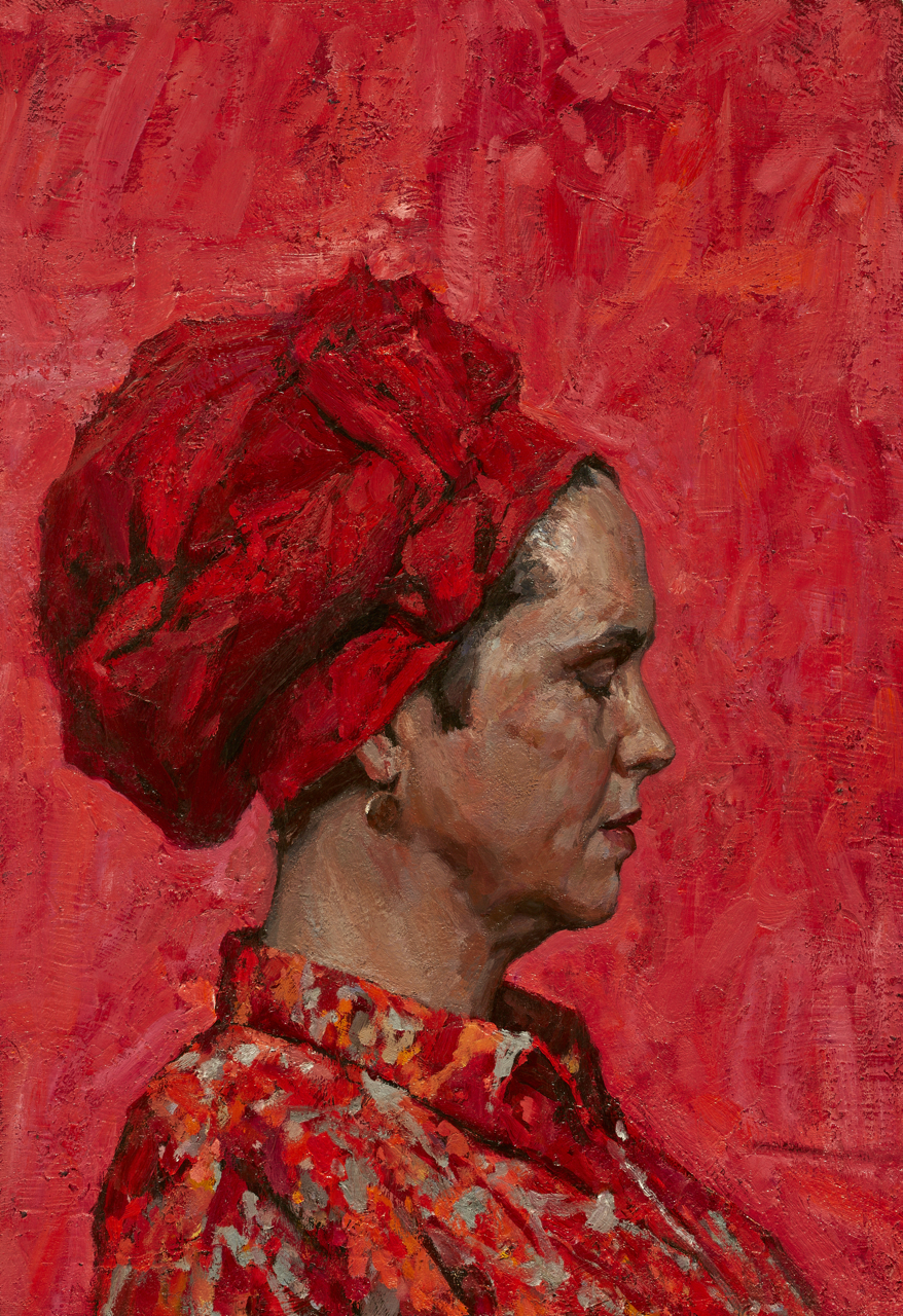 "Timur Akhriev Title: Reddish Size: 14"" x 20"" Oil on Linen Year:2014  Available Through: Gallery Russia."
